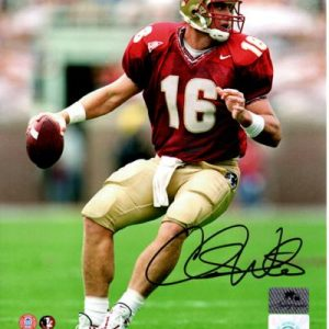Chris Weinke Autographed FSU Florida State Seminoles (Garnet Jersey) 8x10 Photo