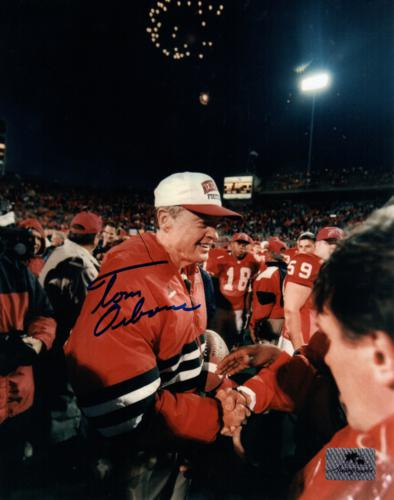 Tom Osborne Autographed Nebraska Huskers (250th Career Victory) 8x10 Photo