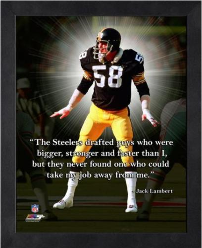 best service 7423f 6742e Jack Lambert Pittsburgh Steelers (Black Jersey) Framed 11x14