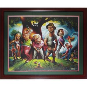 """Bill Murray Autographed Deluxe Framed """"Bushwood - A Tribute to Caddyshawk"""" Deluxe Framed Limited Edition Print by David O'Keefe"""