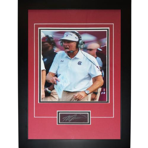 "Steve Spurrier Autographed South Carolina Gamecocks ""Signature Series"" Frame"