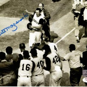Bill Mazeroski Autographed Pittsburgh Pirates (1960 WS HR Celebrating) 8x10 Photo - JSA