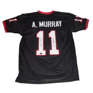 "Aaron Murray Autographed Georgia Bulldogs (Black #11) Custom Jersey w/ ""Go Dawgs!"""