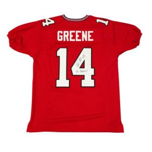 "David Greene Autographed Georgia Bulldogs (Red #14) Jersey w/ ""Go Dawgs!"""