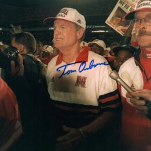 Tom Osborne Autographed Nebraska Huskers (1998 Orange Bowl Win) 8x10 Photo