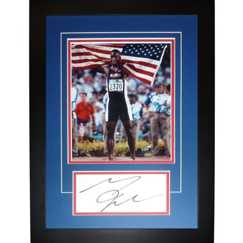 "Michael Johnson Autographed USA Track (Olympics) ""Signature Series"" Frame"