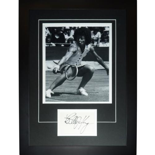 "Billie Jean King Autographed Tennis ""Signature Series"" Frame"