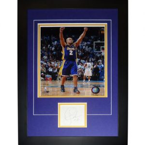 """Derek Fisher Autographed Los Angeles Lakers """"Signature Series"""" Frame"""