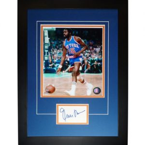 "Earl Monroe Autographed New York Knicks ""Signature Series"" Frame"
