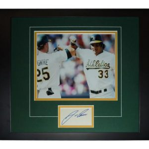 "Jose Canseco Autographed Oakland A's (with McGwire) ""Signature Series"" Frame"