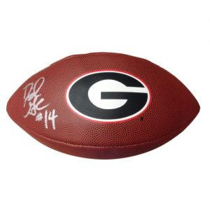 David Greene Autographed Georgia Bulldogs Replica Football