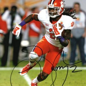 Sammy Watkins Autographed Clemson Tigers (White Jersey) 8x10 Photo