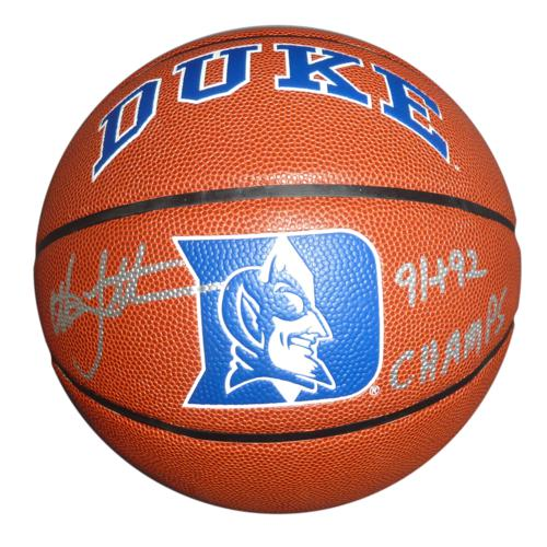 "Christian Laettner Autographed Duke Blue Devils Rawlings Full-Size Basketball w/ ""91 & 92 Champs"""