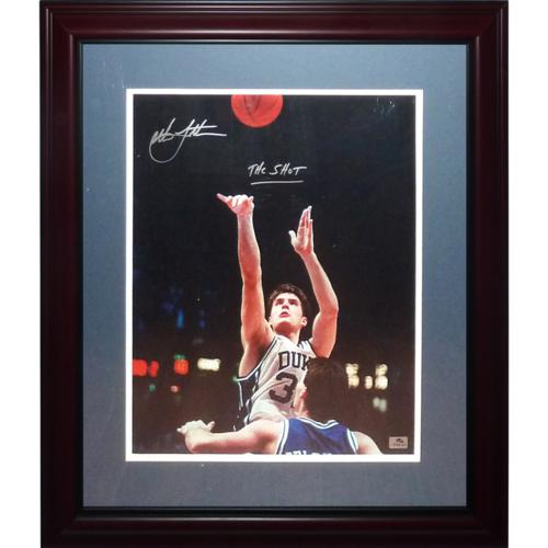 "Christian Laettner Autographed Duke Blue Devils (1992 Final Four) Deluxe Framed 16x20 Photo w/ ""The Shot"""