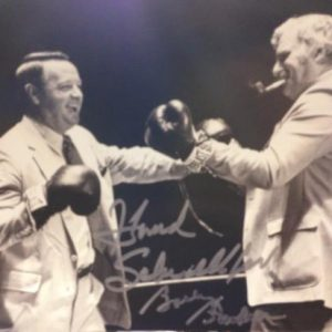 Bobby Bowden And Howard Schnellenberger Autographed FSU Seminoles - Miami Hurricanes (Boxing) 8x10 Photo