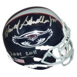 "Howard Schnellenberger Autographed Florida Atlantic FAU Owls (2013) Mini Helmet w/ ""2001-2011"""