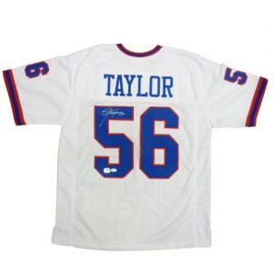 Lawrence Taylor Autographed New York Giants (White #56) Jersey