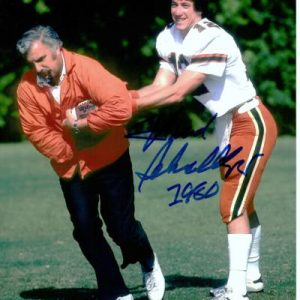 Howard Schnellenberger Autographed Miami Hurricanes (with Jim Kelly) 8x10 Photo