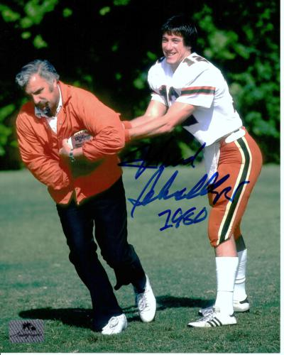 timeless design 5a463 12667 Howard Schnellenberger Autographed Miami Hurricanes (with Jim Kelly) 8x10  Photo