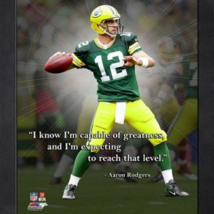 "Aaron Rodgers Green Bay Packers Framed 11x14 ""Pro Quote"""