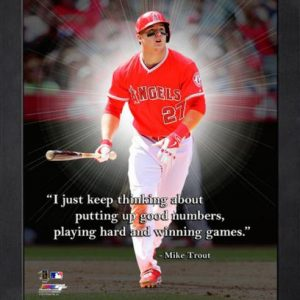 "Mike Trout Anaheim Angels Framed 11x14 ""Pro Quote"""