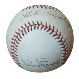 Atlanta Braves Multiple Hall of Famers Autographed OAL Baseball - Appling , Mathews , Spahn , Stargell , Wilhelm - Spence LOA