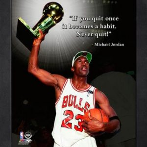 "Michael Jordan Chicago Bulls Framed 11x14 ""Pro Quote"" #3"