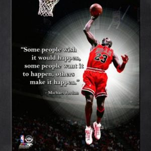 "Michael Jordan Chicago Bulls Framed 11x14 ""Pro Quote"" #4"