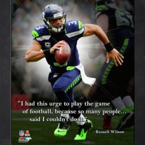 "Russell Wilson Seattle Seahawks Framed 11x14 ""Pro Quote"""
