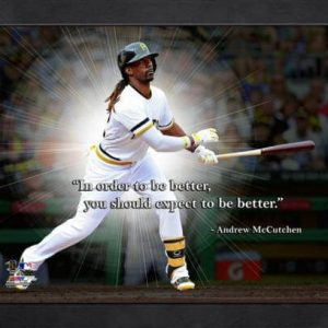 """Andrew McCutchen Pittsburgh Pirates Framed 11x14 """"Pro Quote"""""""