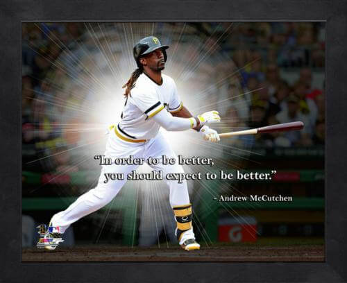 "Andrew McCutchen Pittsburgh Pirates Framed 11x14 ""Pro Quote"""