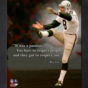 """Ray Guy Oakland Raiders Framed 11x14 """"Pro Quote"""""""