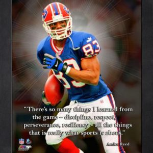 "Andre Reed Buffalo Bills Framed 11x14 ""Pro Quote"""