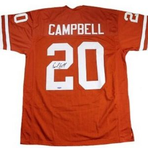 Earl Campbell Autographed Texas Longhorns (Orange #20) Custom Jersey - TriStar