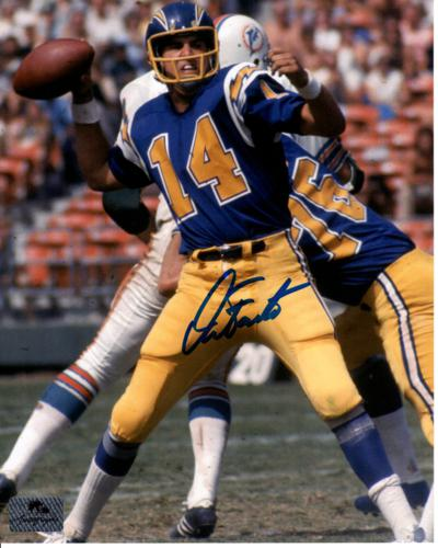 San Diego Chargers Dan Fouts: Dan Fouts Autographed San Diego Chargers (Yellow Pants