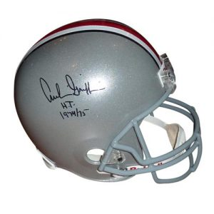 "Archie Griffin Autographed Ohio State Buckeyes Deluxe Full-Size Replica Helmet w/ ""H.T. 1974/75"""