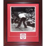 Bobby Knight Autographed Indiana Hoosiers (BW Throwing Chair) Deluxe Framed 11×14 Photo with Patch