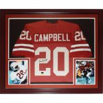 Earl Campbell Autographed Texas Longhorns (Orange #20) Deluxe Framed Jersey – TriStar