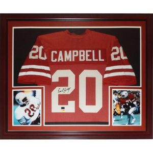 Earl Campbell Autographed Texas Longhorns (Orange #20) Deluxe Framed Jersey - TriStar