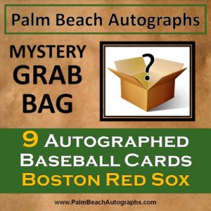 MYSTERY GRAB BAG - 9 Autographed Baseball Cards - Boston Red Sox