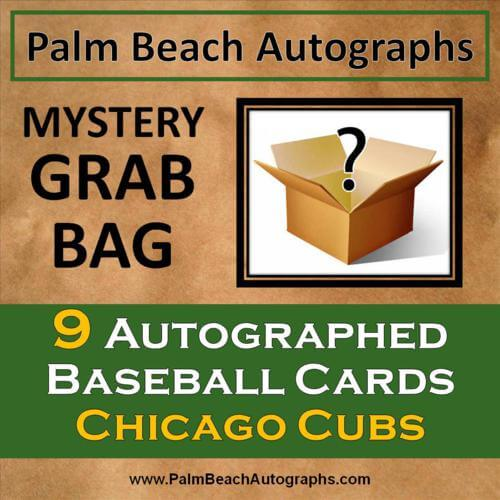 MYSTERY GRAB BAG - 9 Autographed Baseball Cards - Chicago Cubs