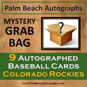 MYSTERY GRAB BAG - 9 Autographed Baseball Cards - Colorado Rockies