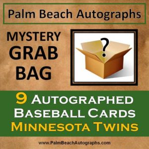 MYSTERY GRAB BAG - 9 Autographed Baseball Cards - Minnestota Twins