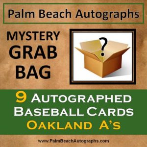 MYSTERY GRAB BAG - 9 Autographed Baseball Cards - Oakland A's