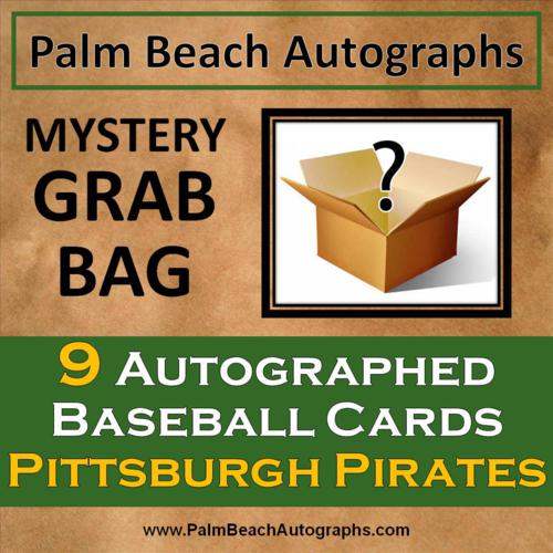 MYSTERY GRAB BAG - 9 Autographed Baseball Cards - Pittsburgh Pirates