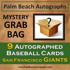 MYSTERY GRAB BAG - 9 Autographed Baseball Cards - San Francisco Giants