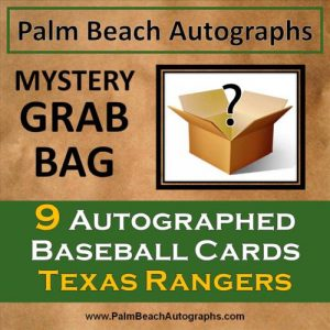 MYSTERY GRAB BAG - 9 Autographed Baseball Cards - Texas Rangers
