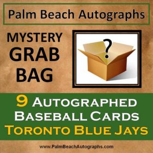 MYSTERY GRAB BAG - 9 Autographed Baseball Cards - Toronto Blue Jays