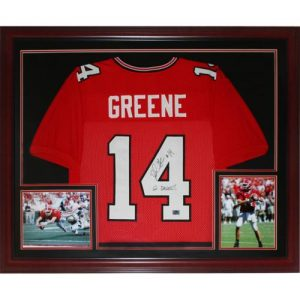 David Greene Autographed Georgia Bulldogs (Red #14) Deluxe Framed Jersey