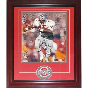 "Archie Griffin Autographed Ohio State Buckeyes Deluxe Framed 11x14 Photo w/ ""H.T. 1974/75"""